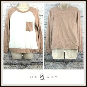 Lou & Grey Two Tone Baseball Crewneck Shirt